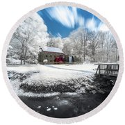 Grist Mill In Halespectrum Round Beach Towel