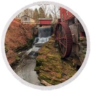 Grist Mill Round Beach Towel