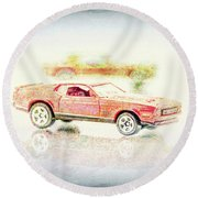 Gritty Mustang Mach 1 Round Beach Towel