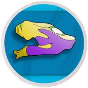 Gro Round Beach Towel by Uncle J's Monsters