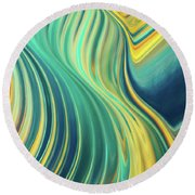 Groovy Love Round Beach Towel