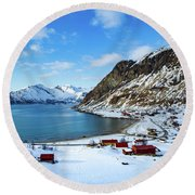 Grotfjord Norway Round Beach Towel
