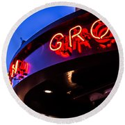 Grotto - Night View Round Beach Towel