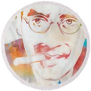 Groucho Marx Round Beach Towel by Dan Sproul