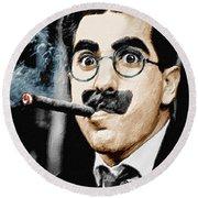 Groucho Marx Vertical  Round Beach Towel