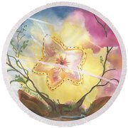 Grounded Star Shine Round Beach Towel