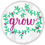 Grow Round Beach Towel by Michelle Eshleman
