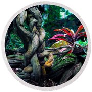 Grow Where You're Planted II Round Beach Towel by Patricia Griffin Brett