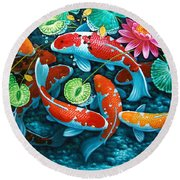 Growing Affluence Round Beach Towel