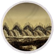 Growing Grapes In Temecula  Round Beach Towel