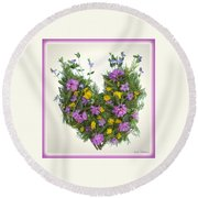 Growing Heart Round Beach Towel