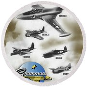 Grumman Ready When Needed Round Beach Towel