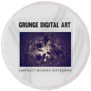 Grunge Collection Round Beach Towel by Modern Art Prints