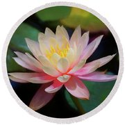 Grutas Water Lilly Round Beach Towel