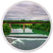 Guadeloupe River Round Beach Towel by Kelly Wade
