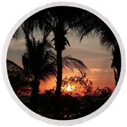 Round Beach Towel featuring the photograph Guanacaste Sunset by Ellen O'Reilly