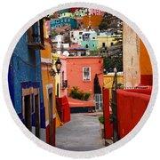 Guanajuato Lane Round Beach Towel by Skip Hunt