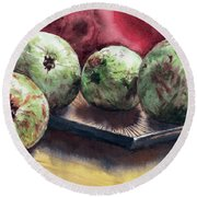 Guapples Round Beach Towel by Joey Agbayani