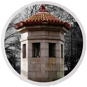 Guardhouse In Prospect Park Brooklyn Ny Round Beach Towel