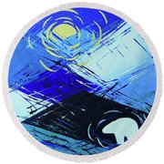 Guardian Bear Winter Round Beach Towel by Jeanette French