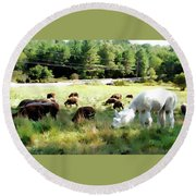 Guardian Round Beach Towel by Betsy Zimmerli