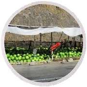 Guatemala Stand 2 Round Beach Towel by Randall Weidner
