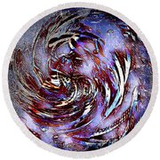 Guess Who Abstract Round Beach Towel
