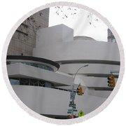 Guggenheim Complex Round Beach Towel by Karen J Shine