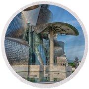 Guggenheim Museum Bilbao Spain Round Beach Towel by James Hammond