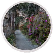 Guide Our Feet Into The Path Of Peace. Luke 1.79  Round Beach Towel