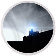 Guiding Light-alcatraz Round Beach Towel