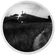 Round Beach Towel featuring the photograph Guiding Light by Bill Wakeley
