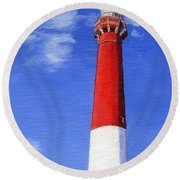 Round Beach Towel featuring the painting Guiding Light by Lynne Reichhart