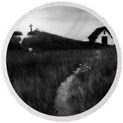 Round Beach Towel featuring the photograph Guiding Light Square by Bill Wakeley