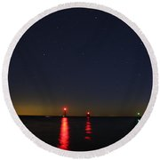 Guiding Lights Round Beach Towel