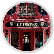 Round Beach Towel featuring the photograph Guinness Beer 5 by Andrew Fare