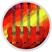 Guitar Fantasy One Round Beach Towel