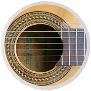 Guitar Rosette Round Beach Towel