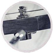 guitar V Round Beach Towel by Priska Wettstein
