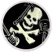 Guitars Of Black Metal Round Beach Towel
