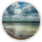 Gulf Beach Beauty Round Beach Towel