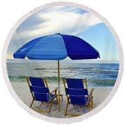 Gulf Coast Beach Oasis Round Beach Towel
