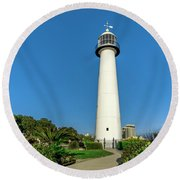 Gulf Coast Lighthouse Seascape Biloxi Ms 3773a Round Beach Towel