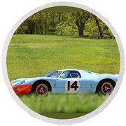 Gulf Mirage Ford Gt40 Round Beach Towel