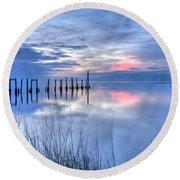 Gulf Reflections Round Beach Towel