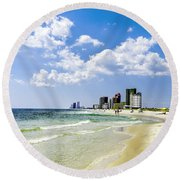 Gulf Shores Al Beach Seascape 1746a Round Beach Towel