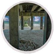 Gulf Shores Park And Pier Al 1649 Round Beach Towel