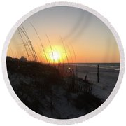 Gulf Shores Sunrise  Round Beach Towel