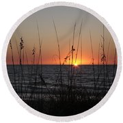 Gulf Sunset In Florida Round Beach Towel