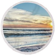 Santa Rosa Beach, Florida Gulf Sunset Round Beach Towel